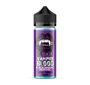 BLACKCURRANT MENTHOL 100ML E LIQUID BY VAMPIRE BLOOD