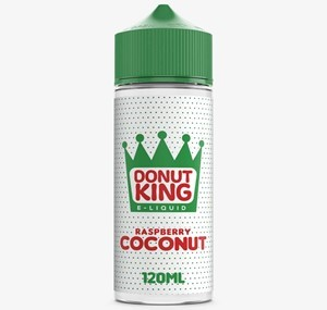 RASPBERRY COCONUT 100ML E-LIQUID BY DONUT KING