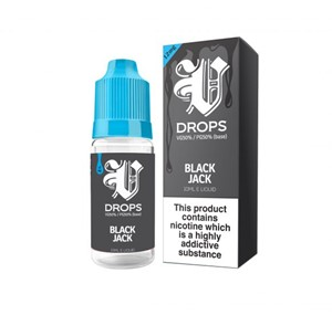 BLACK JACK 6 X 10ML E-LIQUID BY V DROPS