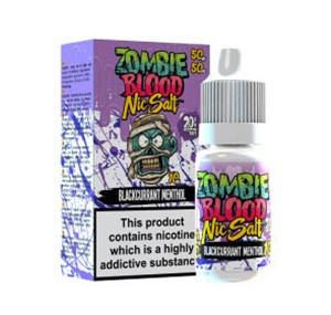 BLACKCURRANT MENTHOL NIC SALT 10ML BY ZOMBIE BLOOD