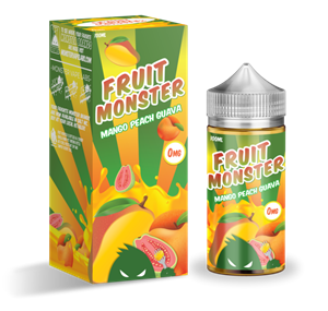 MANGO PEACH GUAVA E-LIQUID 100ML FRUIT MONSTER