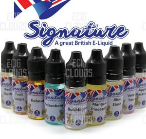 SIGNATURE 10 x 10ML = 100ML E-LIQUID ALL FLAVOURS ALL STRENGTHS