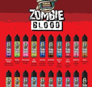 ZOMBIE BLOOD 50ML SHORTFILL E LIQUID 20 FLAVOURS
