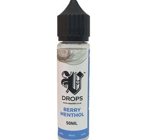 BERRY MENTHOL 50ML E LIQUID V DROPS