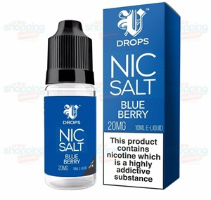 BLUE BERRY NIC SALT 6 X 10ML BY V DROPS