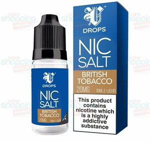 BRITISH TOBACCO NIC SALT 6 X 10ML BY V DROPS