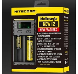 NITECORE I2 CHARGER UNIVERSAL BATTERY CHARGER 26650 18650 18350 AA UK PLUG