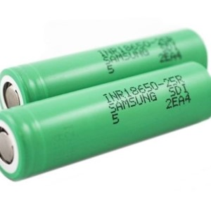 2 X SAMSUNG INR 18650 25R 2500MAH 20/35A HIGH DRAIN FLAT TOP BATTERIES