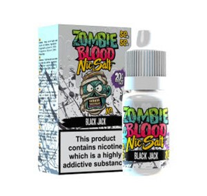 BLACK JACK NIC SALT 10ML BY ZOMBIE BLOOD
