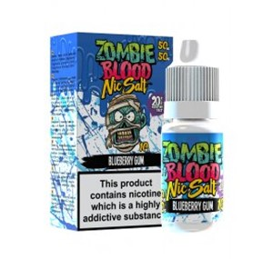 BLUEBERRY GUM NIC SALT 10ML BY ZOMBIE BLOOD