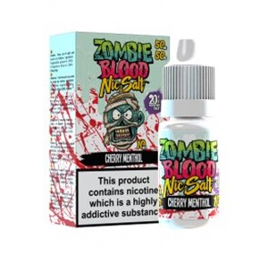 CHERRY MENTHOL NIC SALT 10ML BY ZOMBIE BLOOD